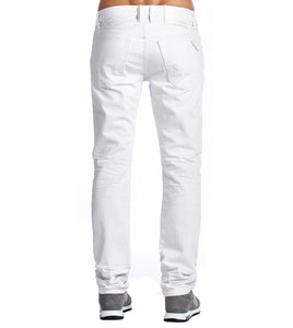 Cult of IndividualityMen's Rebel Straight Denim Jeans in White
