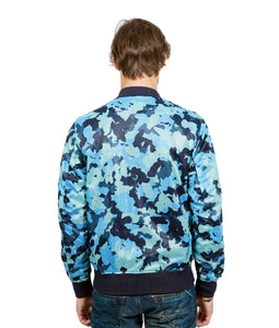 REVERSIBLE CAMO MESH JACKET IN NAVY