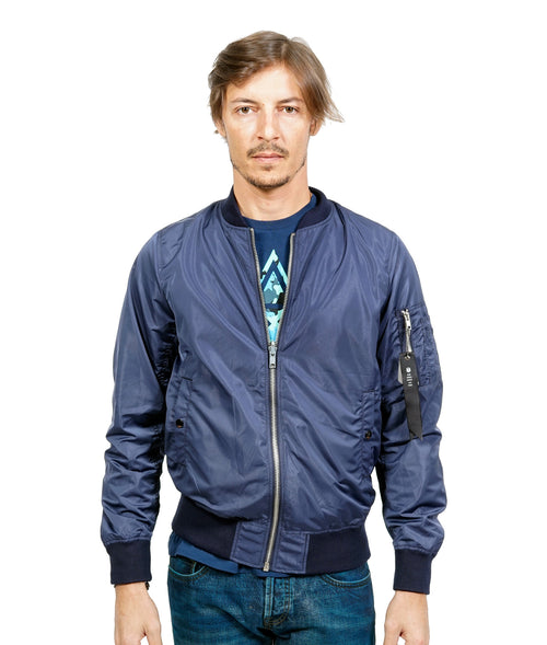 Cult of IndividualityMen's Reversible Camo Mesh Jacket in Navy