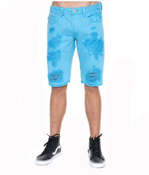 Cult of IndividualityMen's Rebel Denim Shorts in Blue Grotto40