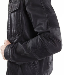 Cult of IndividualityMen's Moto Type 2 Jacket in Coated Black
