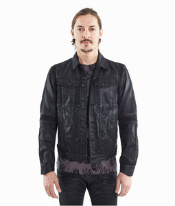 Cult of IndividualityMen's Moto Type 2 Jacket in Coated Black3XL