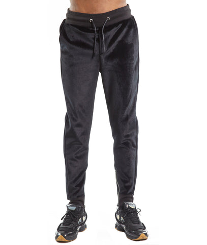 Men's Rockabilly Slim Denim Jeans in Coated Black