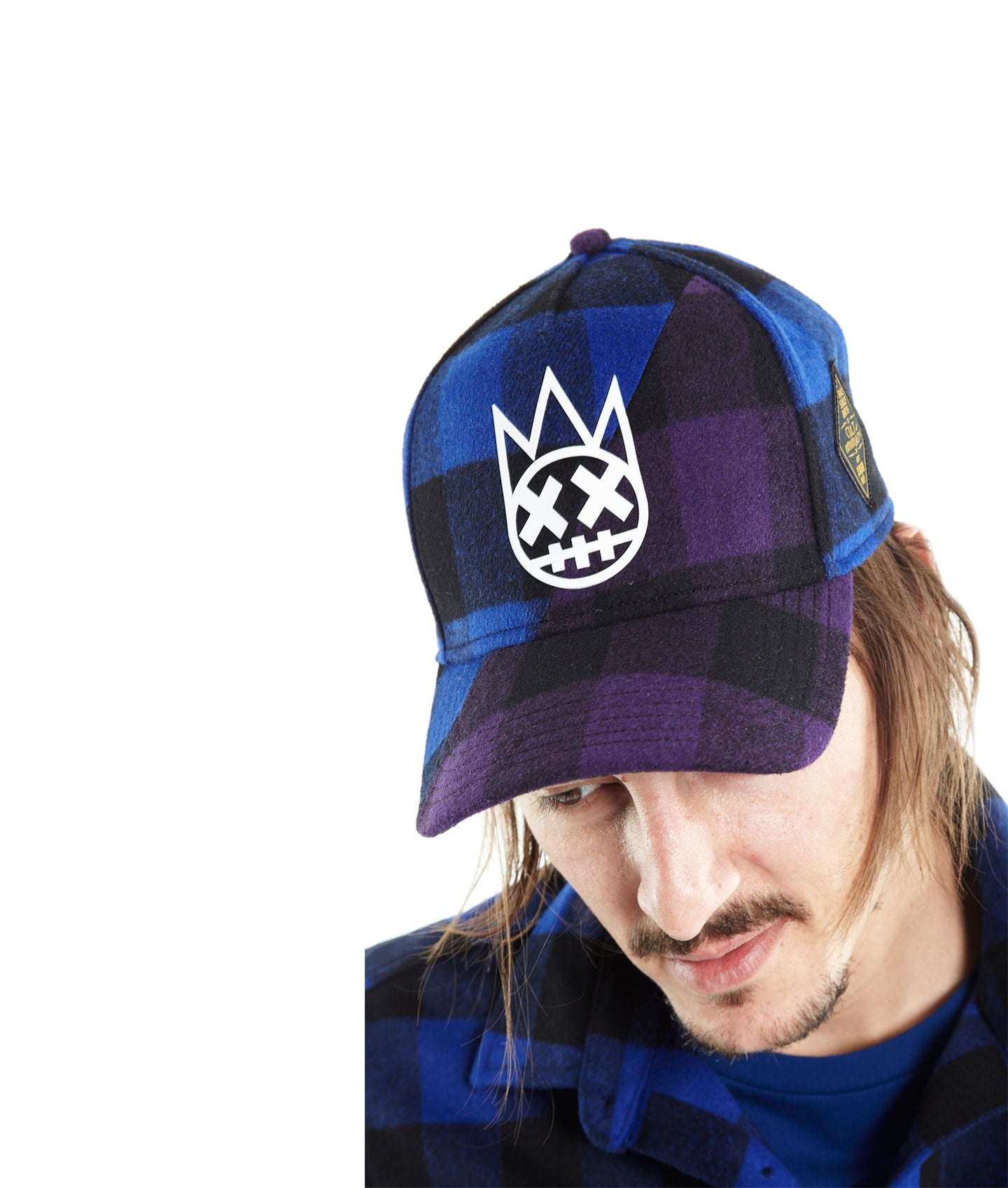 SPLIT PAD TRUCKER HAT IN PLAIDS