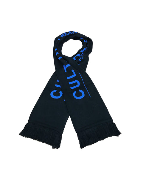 Cult of IndividualityBlue Cult Logo Scarf in Black