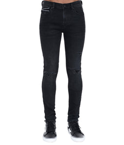 Cult of IndividualityMen's Punk Super Skinny Premium Stretch Denim Jeans in Vintage Black40
