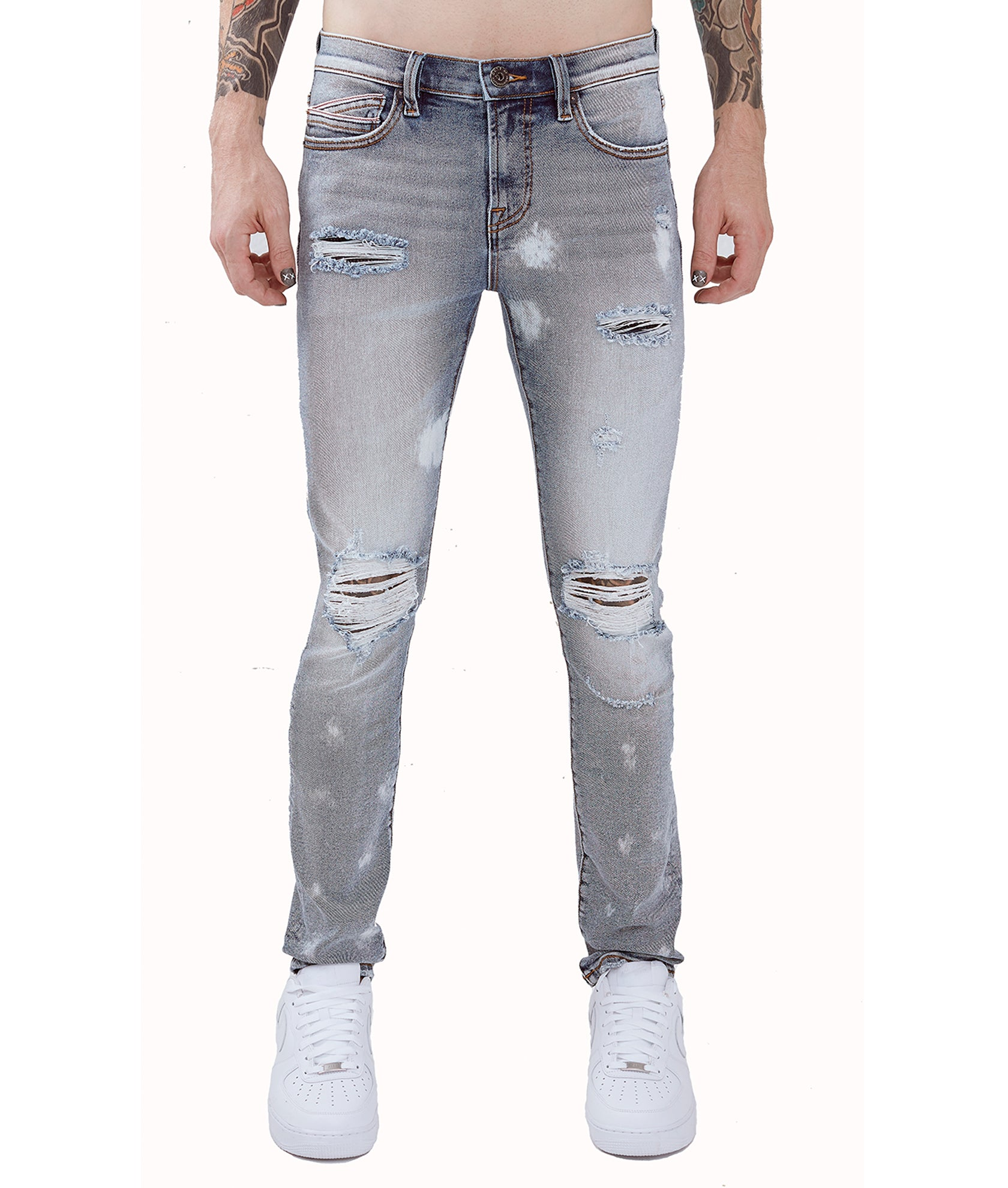 Cult of IndividualityMen's Punk Super Skinny Premium Stretch Denim Jeans in Classic