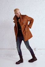 Load image into Gallery viewer, VINTAGE BROWN PEACOAT