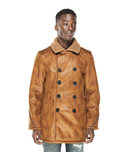 VINTAGE BROWN PEACOAT