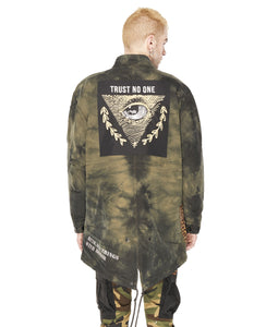 M65 PARKA COTTON/POLY IN ARMY TIE DYE