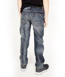 Cult of IndividualityKid's Rogue Slim Straight Denim Jeans Stretch in Kinn