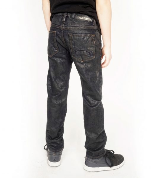 Kid's Rogue Slim Straight Stretch Denim Jeans in Black Ice${product_sku}