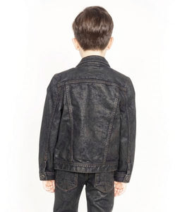 Cult of IndividualityKid's Denim Jacket Stretch in Black Ice