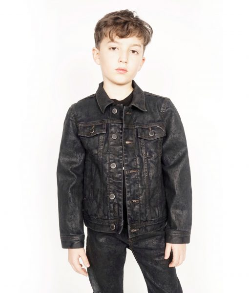 Cult of IndividualityKid's Denim Jacket Stretch in Black Ice2
