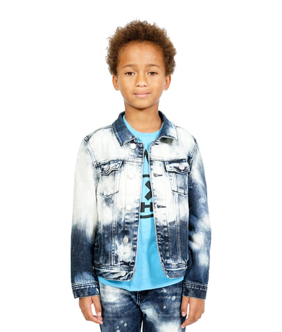 Kid's Rogue Slim Straight Denim Jeans-Stretch in Coated