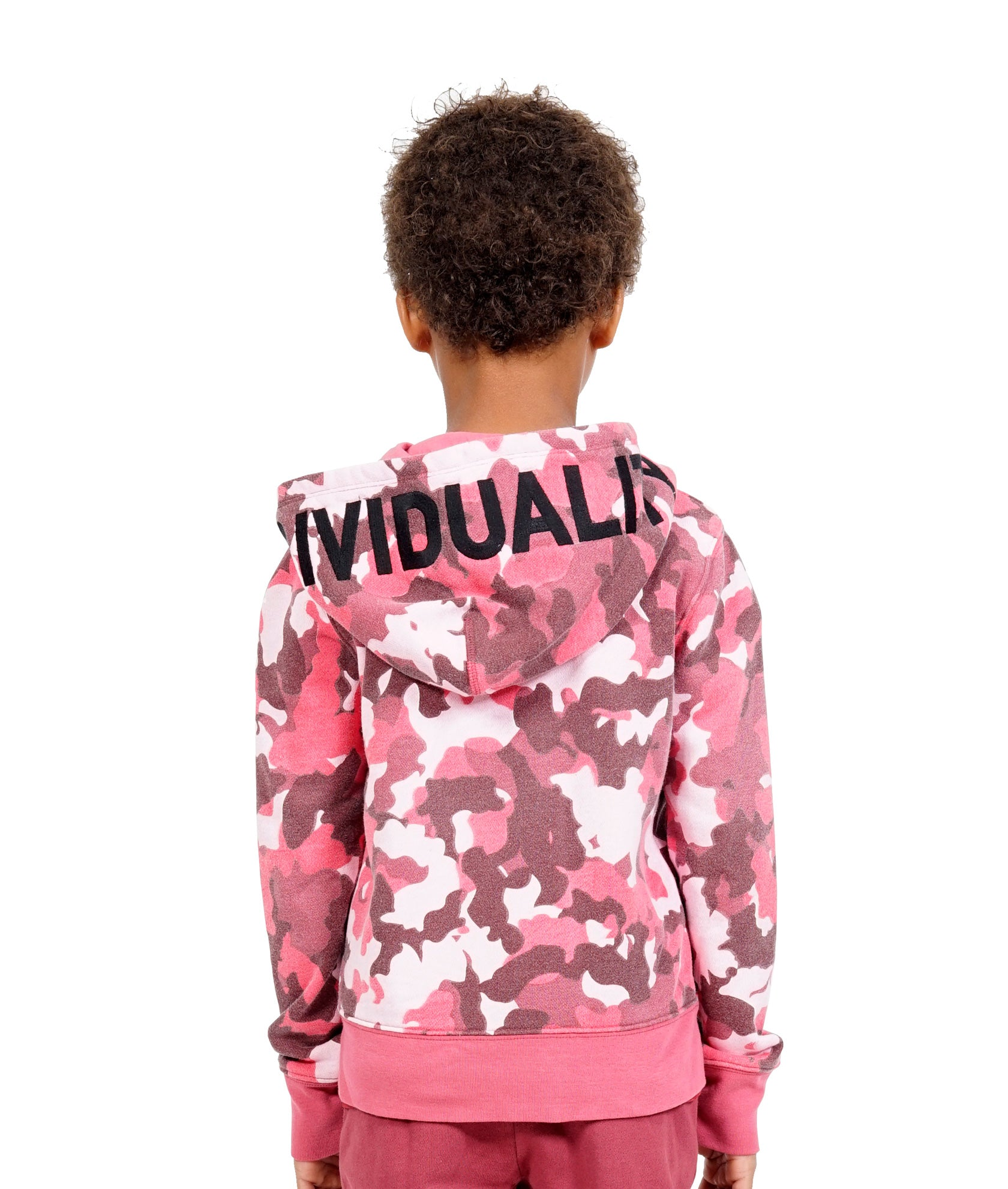Cult of IndividualityKid's Camo Full Zip Hoody in Rio Red