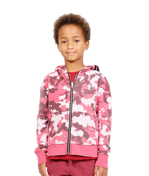 Cult of IndividualityKid's Camo Full Zip Hoody in Rio Red5-Apr