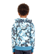 Load image into Gallery viewer, Cult of IndividualityKid's Camo Full Zip Hoody in Navy