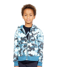 Load image into Gallery viewer, Cult of IndividualityKid's Camo Full Zip Hoody in Navy10