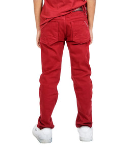 Cult of IndividualityKid's Jeans Rogue Slim Straight Stretch in Rio Red