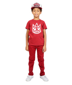 Cult of IndividualityKid's Jeans Rogue Slim Straight Stretch in Rio Red10