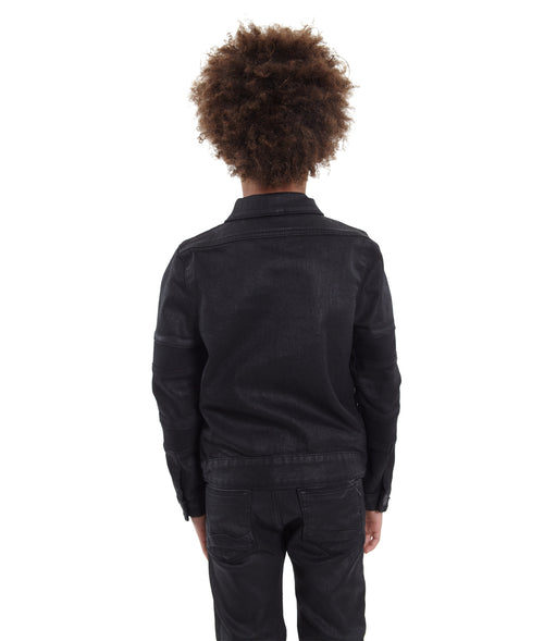 Cult of IndividualityKid's Moto Coated Denim Jacket in Coated