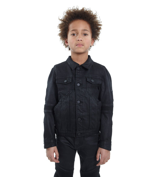 Cult of IndividualityKid's Moto Coated Denim Jacket in Coated'6/7