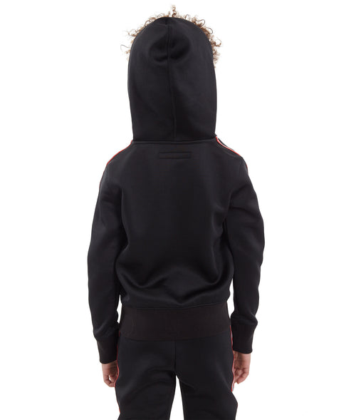Cult of IndividualityKid's Scuba Stripe Full Zip Hoody in Black