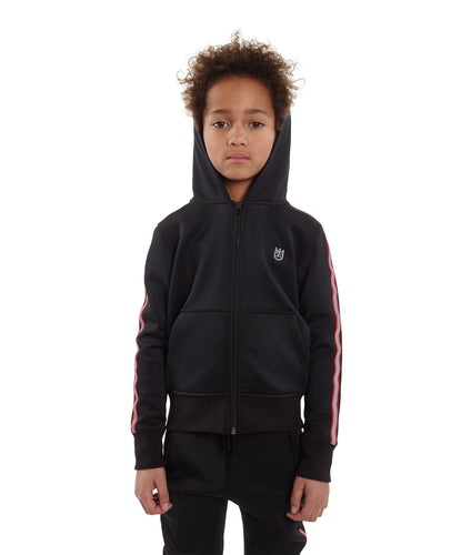 Cult of IndividualityKid's Scuba Stripe Full Zip Hoody in Black10