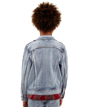 Load image into Gallery viewer, Cult of IndividualityKid's Stripe Denim Jacket in Kinevil