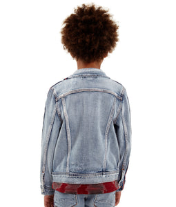 Cult of IndividualityKid's Stripe Denim Jacket in Kinevil