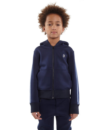 Cult of IndividualityKid's Scuba Stripe Full Zip Hoody in Navy