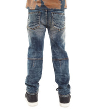 Load image into Gallery viewer, Cult of IndividualityKid's Rogue Slim Straight Stretch Moto Denim Jeans in Sifu