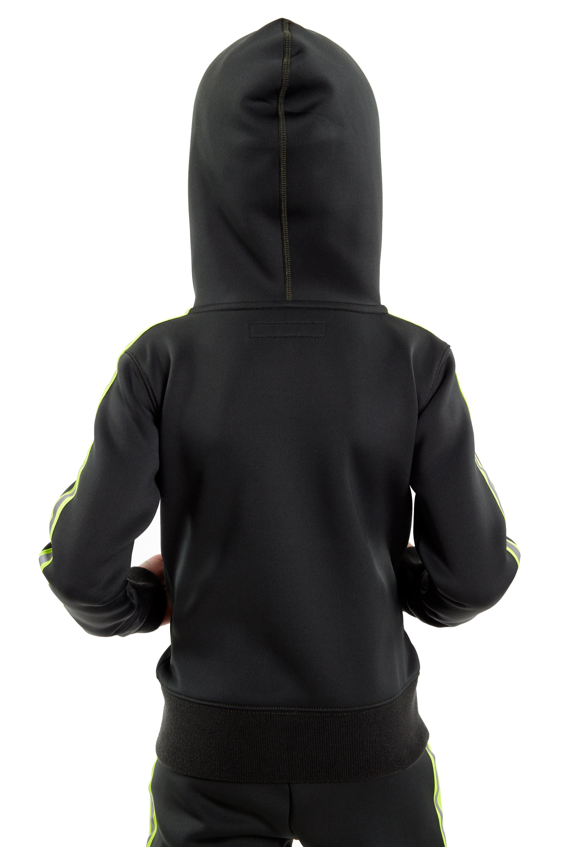 Cult of IndividualityKid's Scuba Stripe Full Zip Hoody in Hunter Green