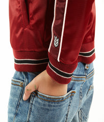 Cult of IndividualityKid's Cult Varsity Jacket in Burgundy
