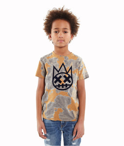 Cult of IndividualityKid's SHIMUCHAN Flocking Graphics Crew Neck T Shirt in Mold5-Apr
