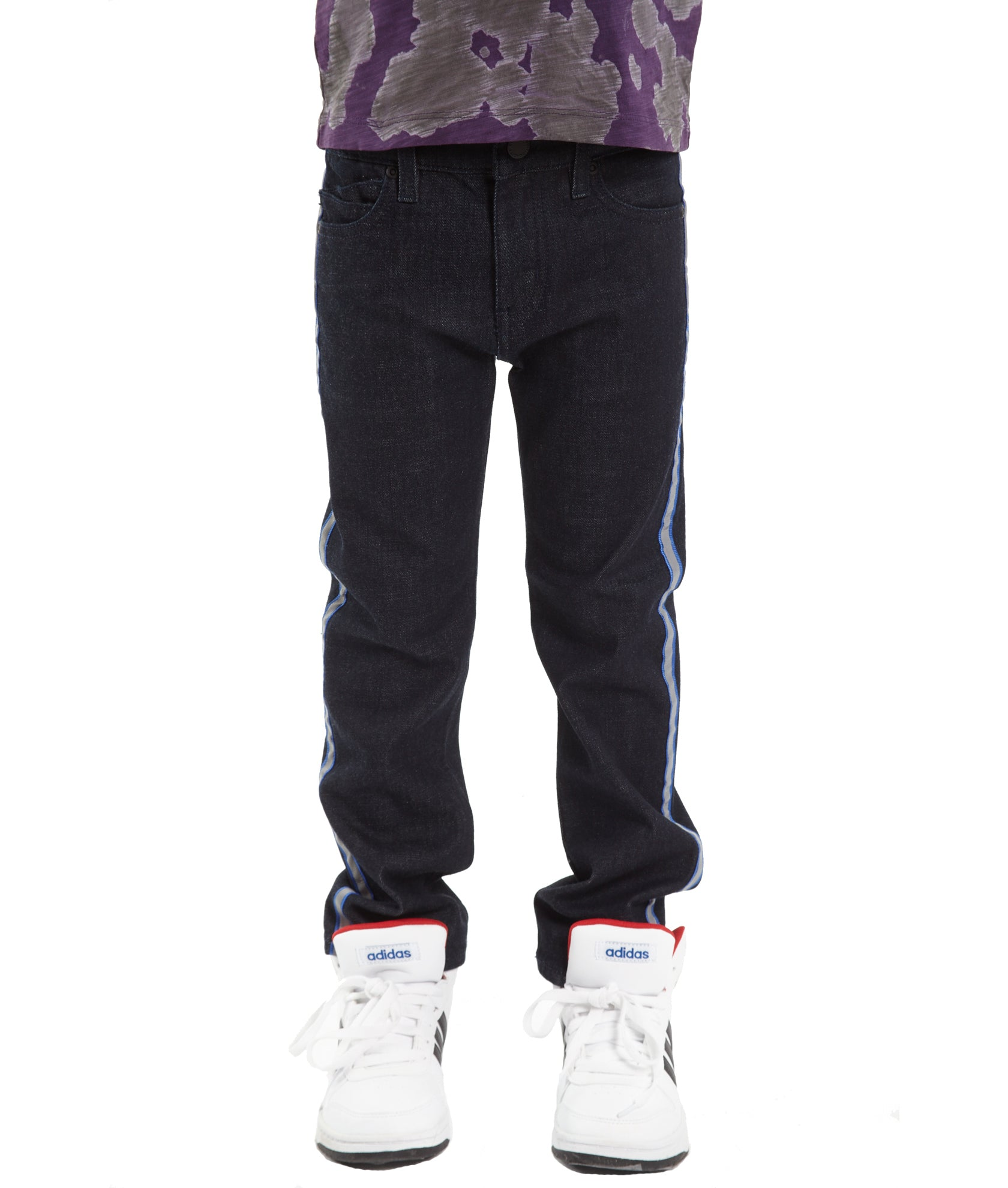 Kid's Rogue Slim Straight Stretch Denim Jeans in Rinse${product_sku}