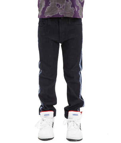Kid's Scuba Stripe Sweat Pants in Black