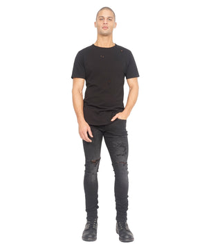 Cult of Individuality | Punk Super Skinny in Jet Black