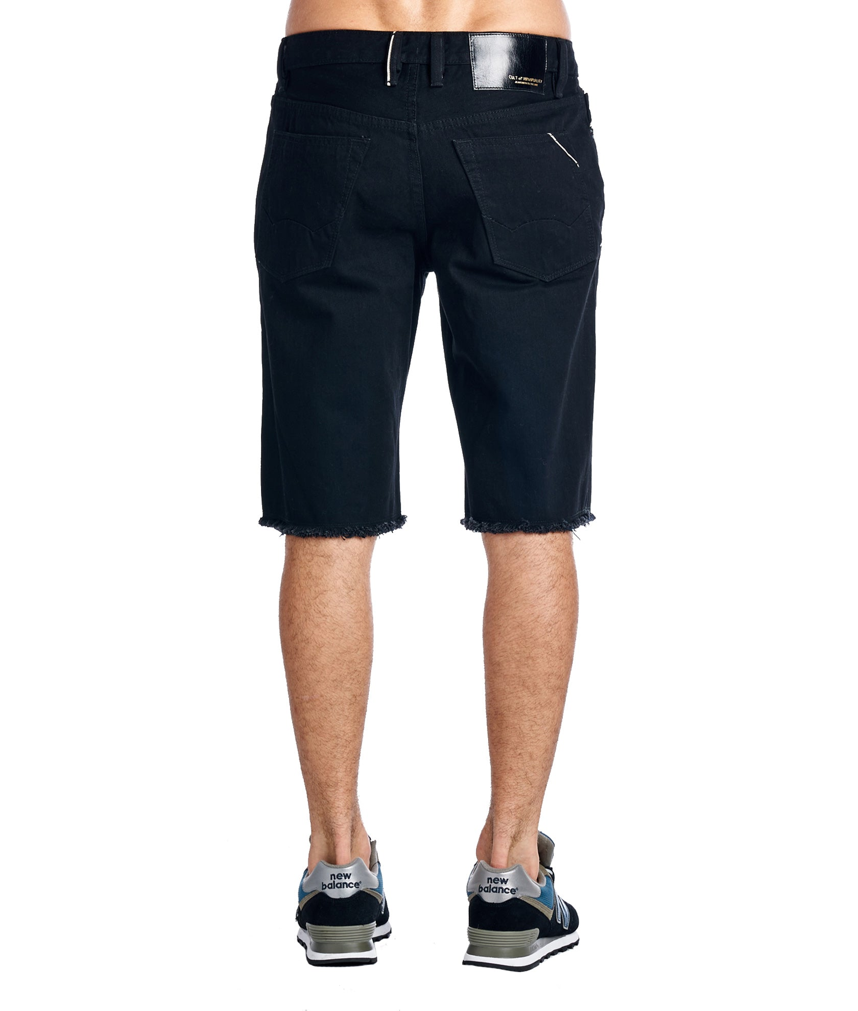 Cult of IndividualityMen's Rebel Denim Shorts in Black
