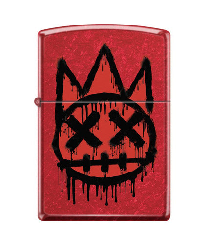 CULT SHIMUCHAN ZIPPO LIGHTER RED/BLACK