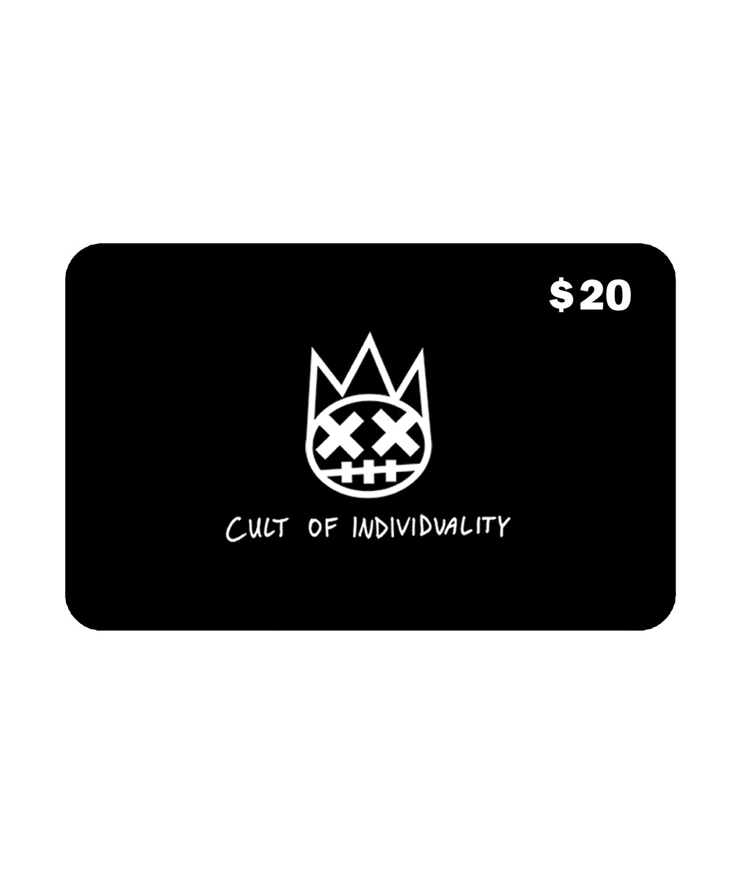 Cult of Individuality$20 CULT Gift Card