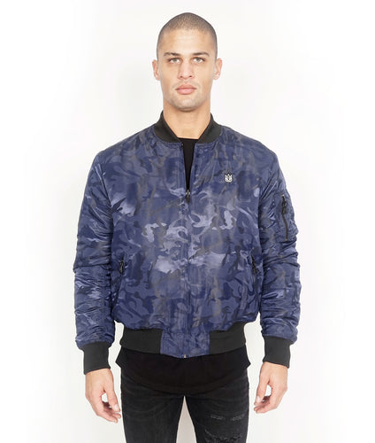 Cult of IndividualityMen's Reversible Bomber Jacket in Navy Camo3XL