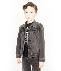 Cult of IndividualityKid's Denim Jacket Stretch in Vintage Black2