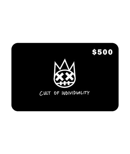 Cult of Individuality$500 CULT Gift Card