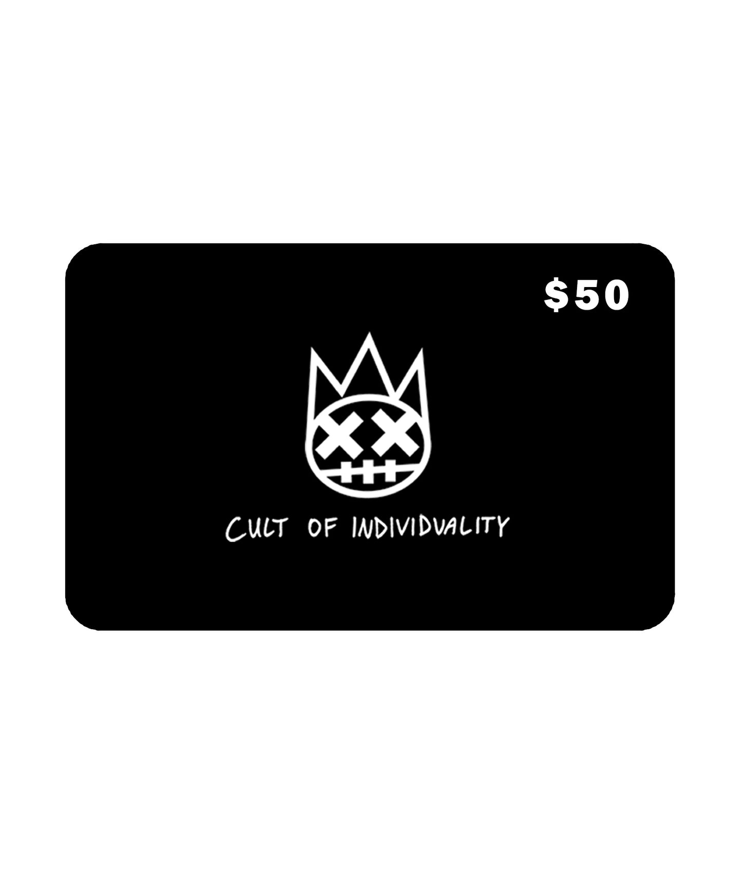 Cult of Individuality$50 CULT Gift Card