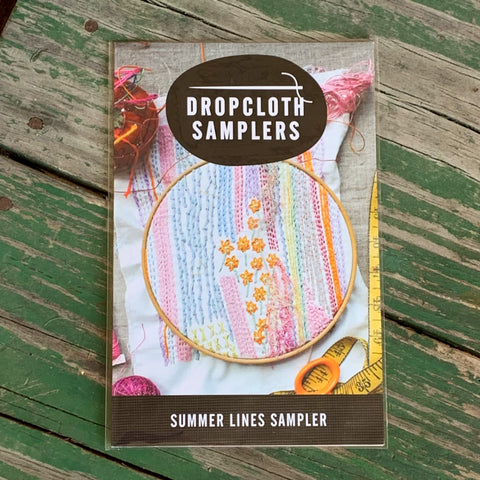 Summer Lines Sampler Modern Hand Embroidery - Dropcloth Samplers