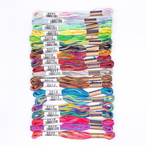 9000 Series Lecien Cosmo Seasons Embroidery Floss - FULL SET!