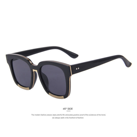 Women Retro Square Frame Sunglasses