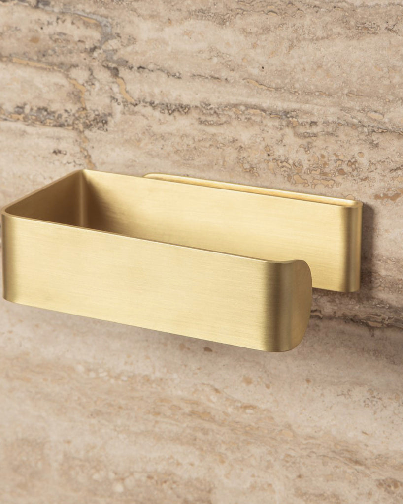 Toilet Roll Holder - Brass